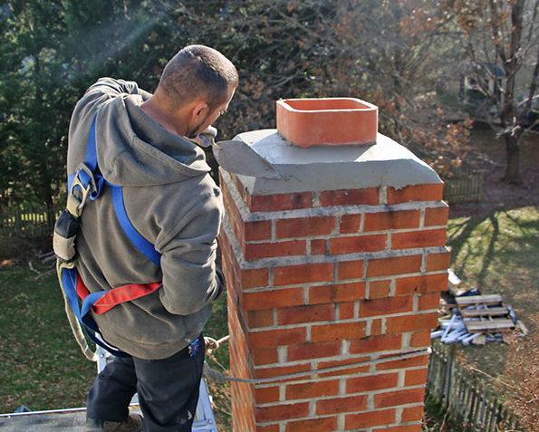 Chimney crown repair & chimney masonry repair in Leesburg VA