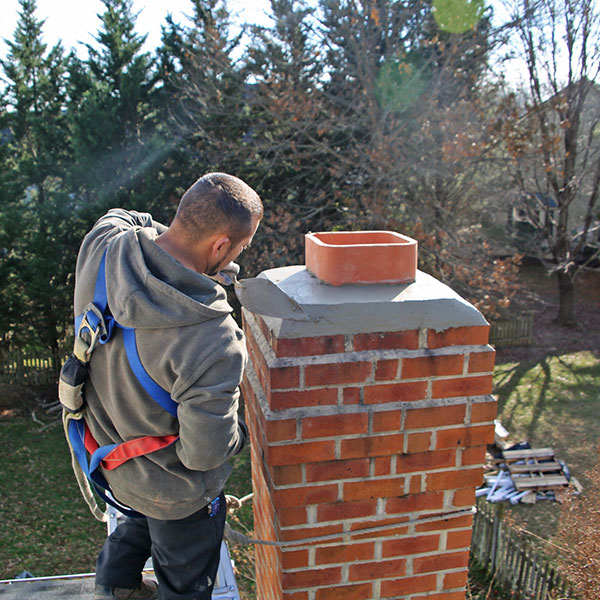 Chimney crown repair & chimney masonry repair in Martinsburg WV