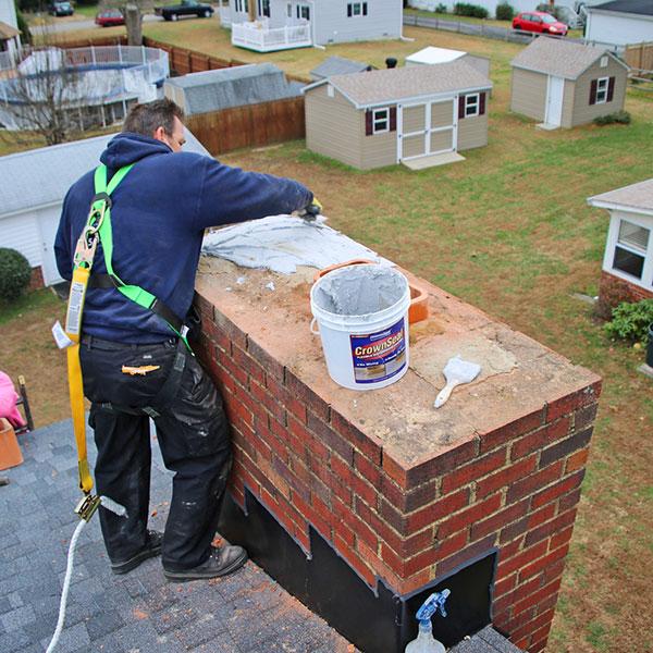 chimney water proofing & Chimney crown repair in Harpers Ferry WV